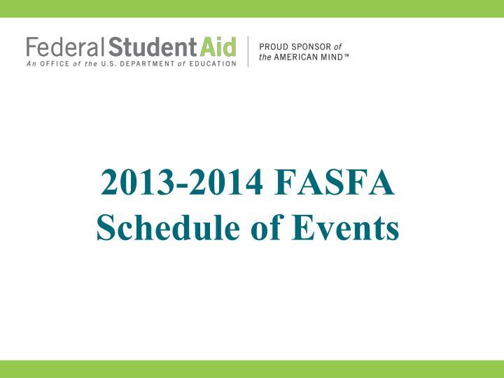 2013-2014 FASFA