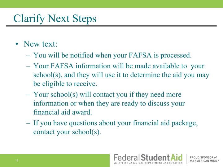 Clarify Next Steps