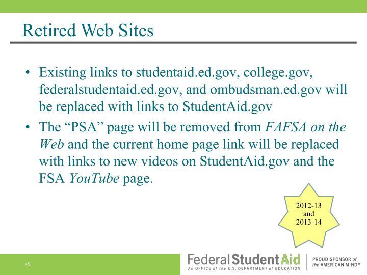 Retired Web Sites