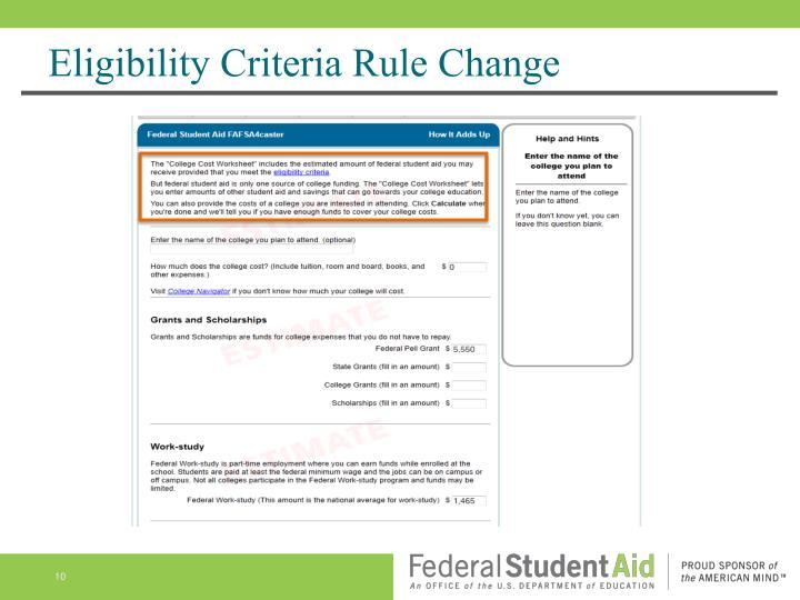 Eligibility Criteria Rule
