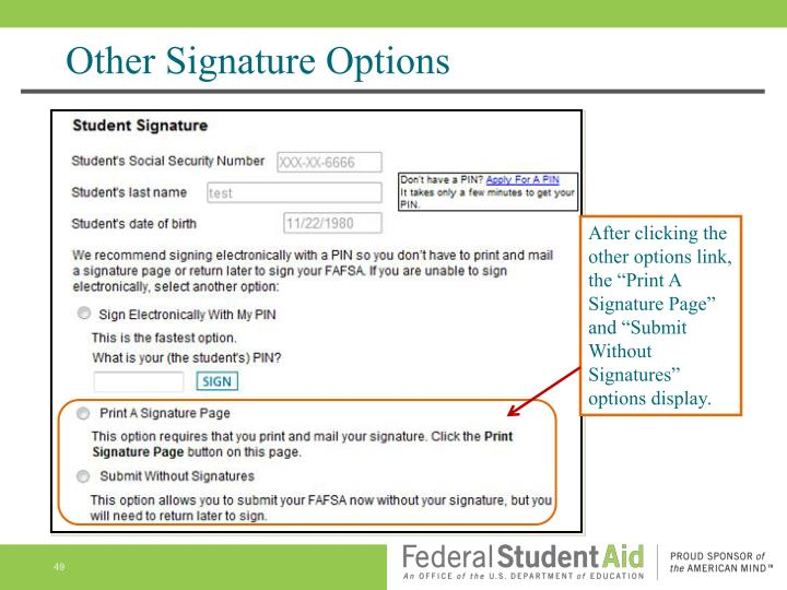 Other Signature Options