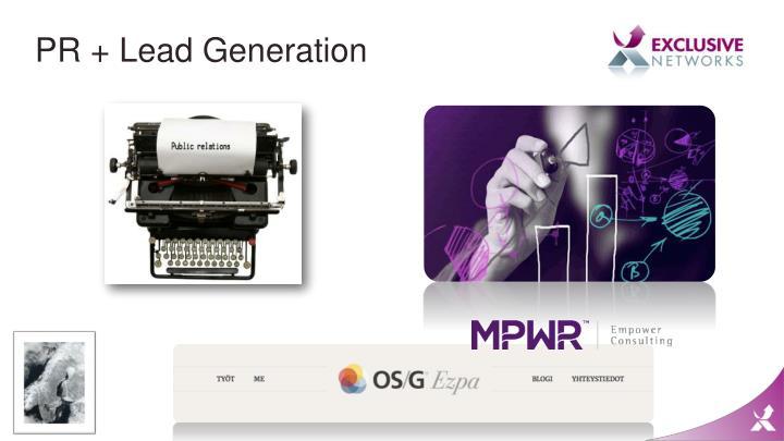 PR + Lead Generation