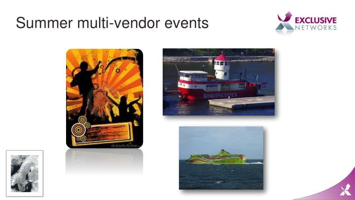 Summer multi-vendor events