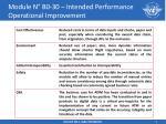 module n b0 30 intended performance operational improvement