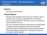 module n b0 30 necessary system capability