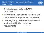 module n b0 30 training and qualification requirements