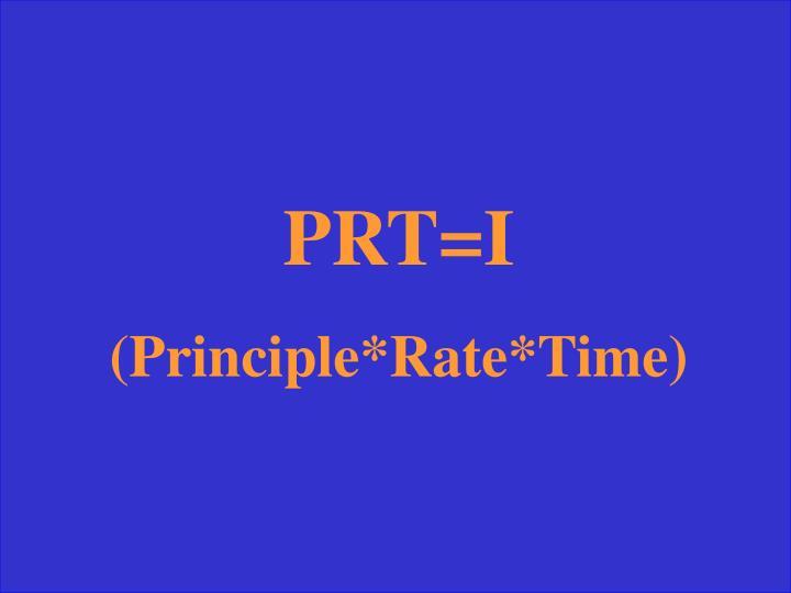PRT=I