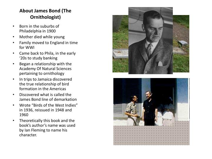 About james bond the ornithologist