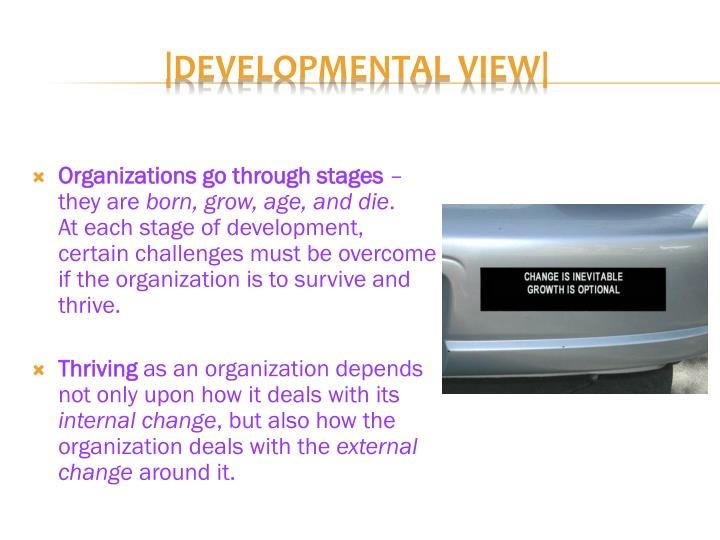 Organizations go through stages