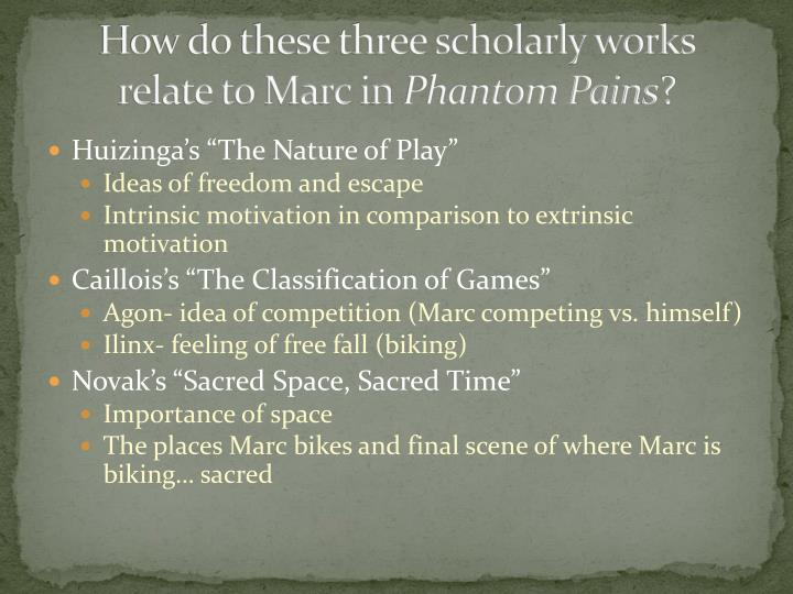 How do these three scholarly works relate to Marc in