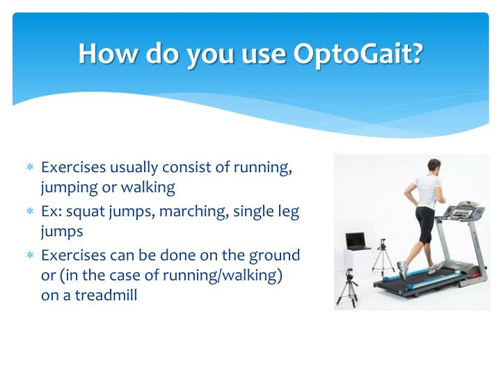 How do you use optogait
