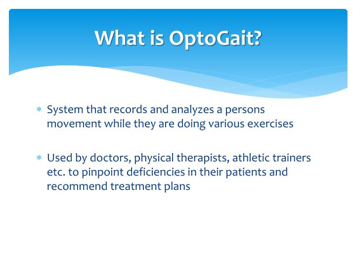 What is optogait