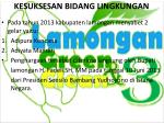 kesuksesan bidang lingkungan