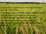 sektor pertanian dan sda