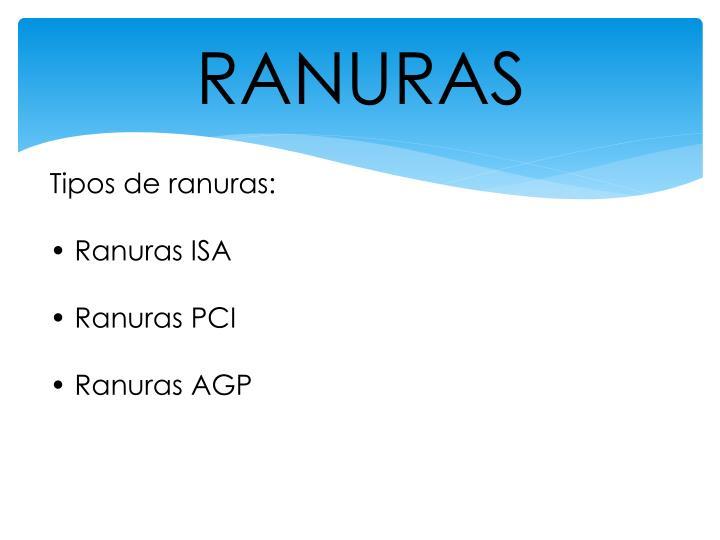RANURAS