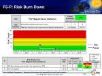 f6 p risk burn down
