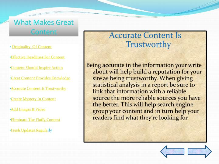 What Makes Great Content