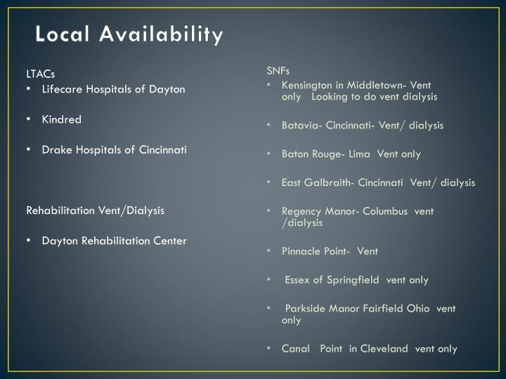 Local Availability