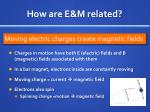 how are e m related