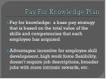 pay for knowledge plan