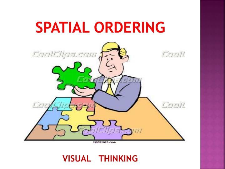 Spatial ordering