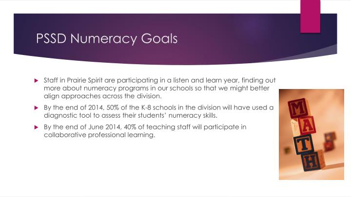 PSSD Numeracy Goals