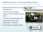 model data fusion harnessing observations