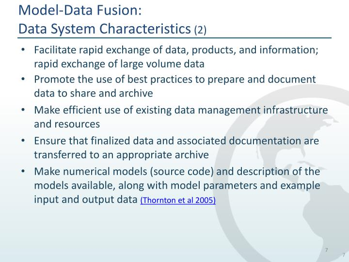 Model-Data Fusion: