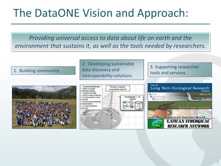 The DataONE Vision and Approach: