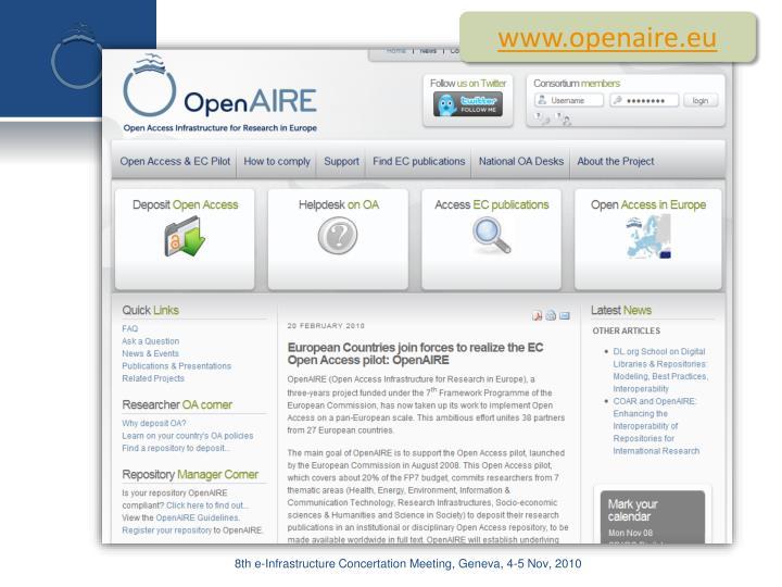www.openaire.eu