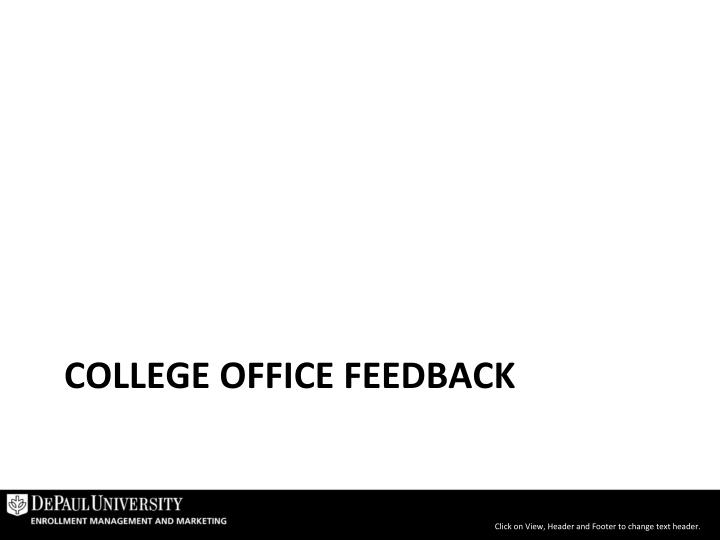 College Office Feedback