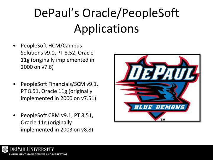 DePaul's Oracle/PeopleSoft Applications