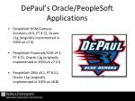 depaul s oracle peoplesoft applications