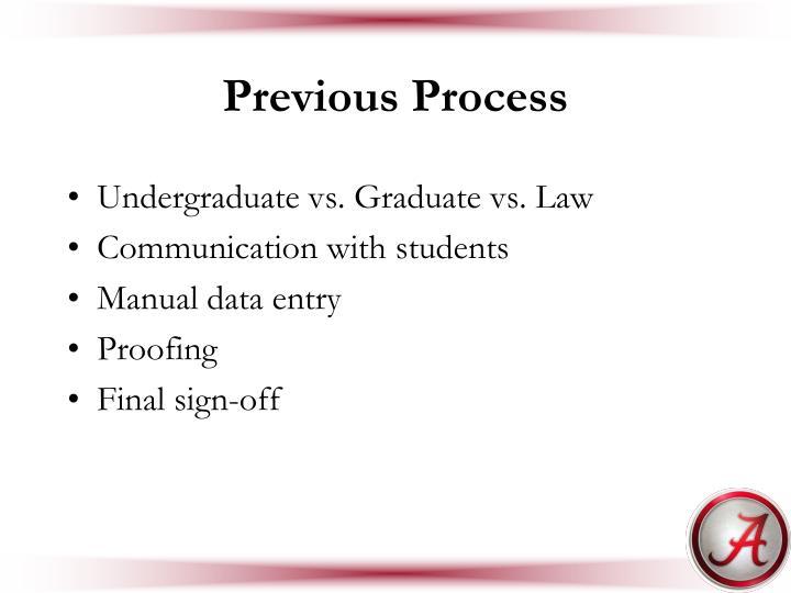 Previous Process