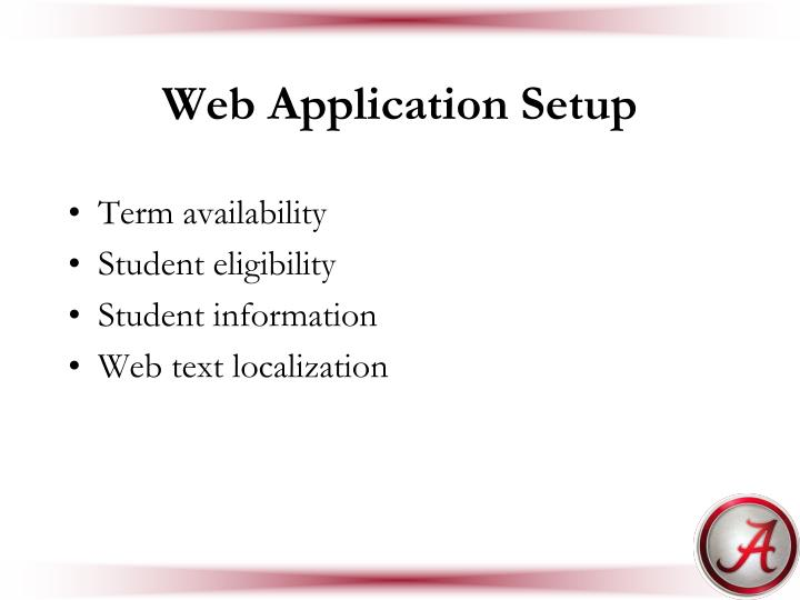 Web Application Setup