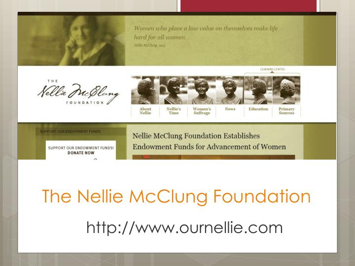 The Nellie McClung Foundation
