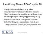 identifying places rda chapter 161