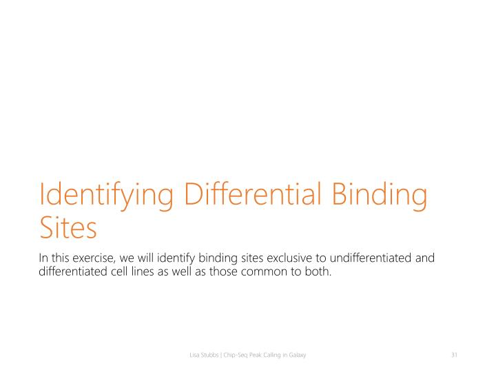Identifying Differential Binding Sites