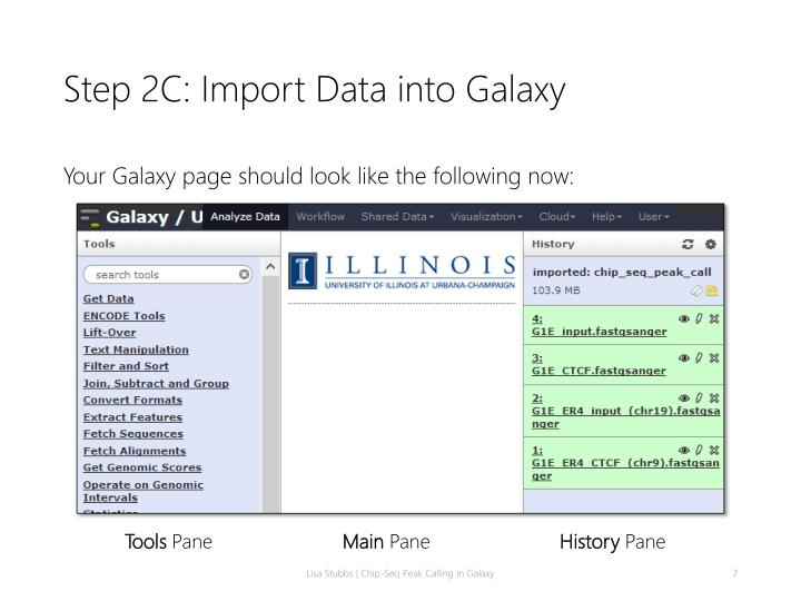 Step 2C: Import Data into Galaxy