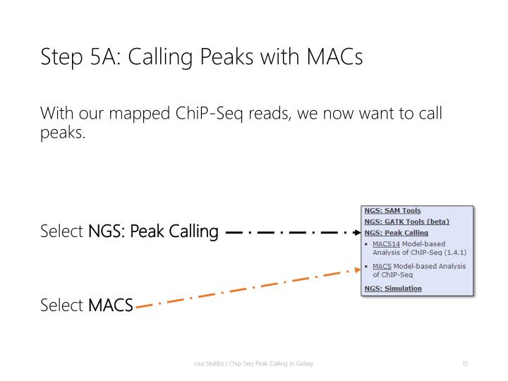 Step 5A: Calling Peaks with MACs