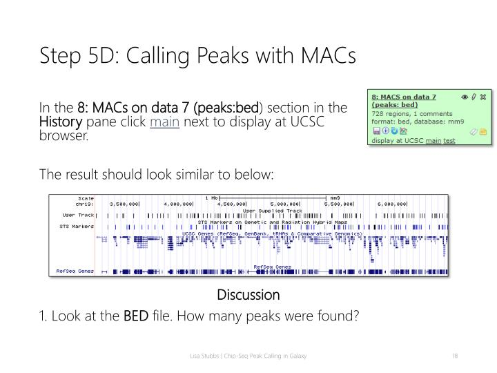Step 5D: Calling Peaks with MACs