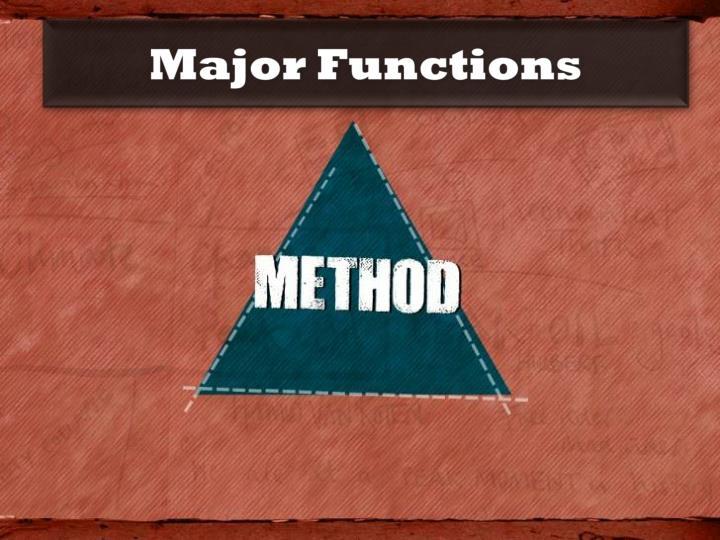 Major Functions