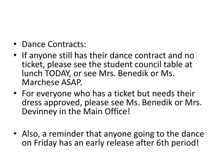 Dance Contracts: