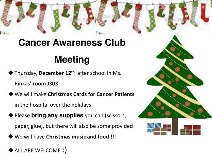 Cancer Awareness Club Meeting