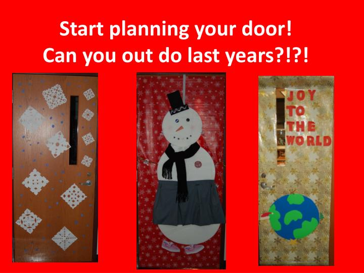 Start planning your door