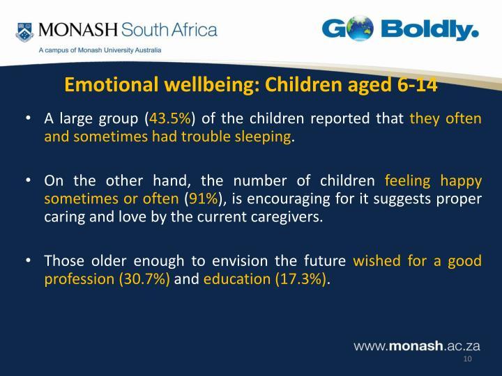 Emotional wellbeing: Children aged 6-14