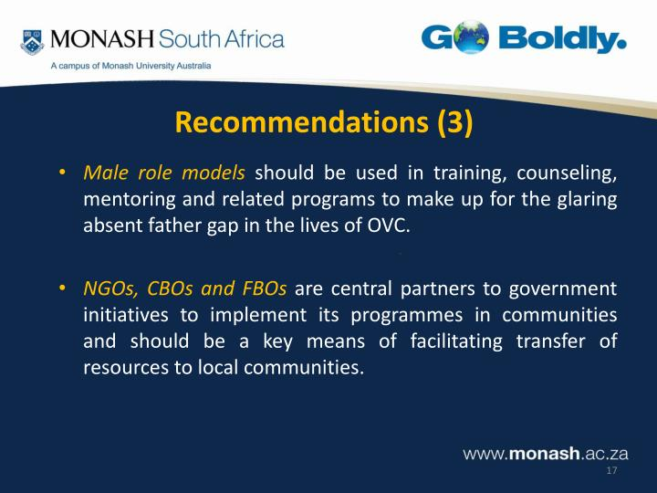 Recommendations (3)
