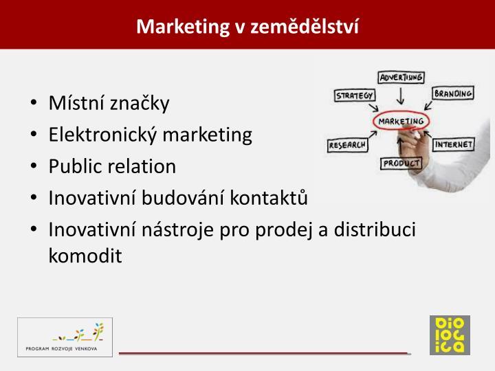 Marketing v zemědělství