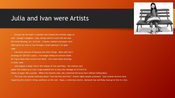Julia and Ivan were Artists