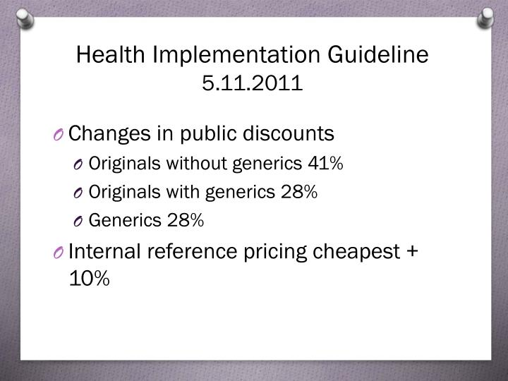 Health Implementation Guideline